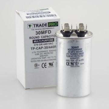 TradePro TP-CAP-30/440R - Run Capacitor, 30/440 VAC, Round