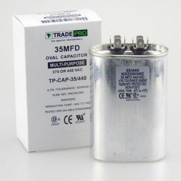 TRADEPRO® TP-CAP-35/440 - Run Capacitor, 35/440 VAC, Oval