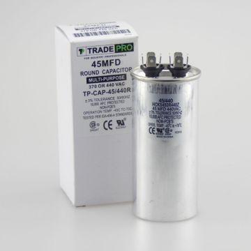 TradePro TP-CAP-45/440R - Run Capacitor, 45/440 VAC, Round