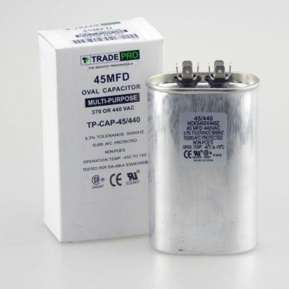 TRADEPRO® TP-CAP-45/440 - Run Capacitor, 45/440 VAC, Oval