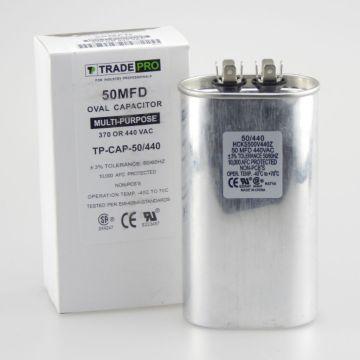 TradePro TP-CAP-50/440 - Run Capacitor, 50/440 VAC, Oval