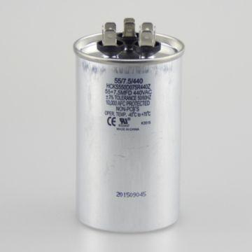 TradePro TP-CAP-55/7.5/370R -  55+7.5 MFD 370V Round Run Capacitor