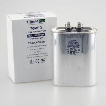 TradePro TP-CAP-70/440 - Run Capacitor, 70/440 VAC, Oval
