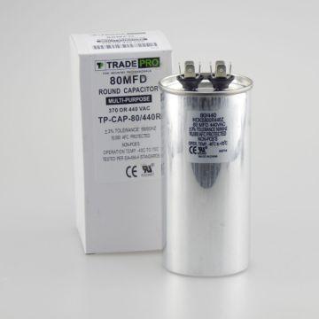TradePro TP-CAP-80/440R - 80 MFD 440 Volt Round Run Capacitor