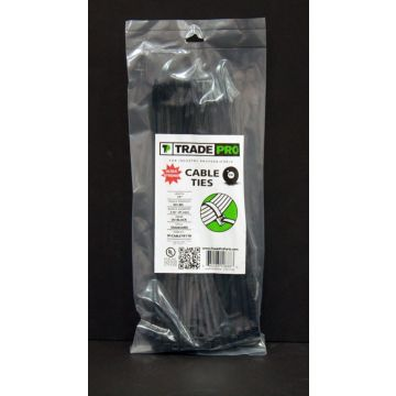 "TradePro TP-CABLETIE14B - 14"" Black Cable Ties 100 per pack"
