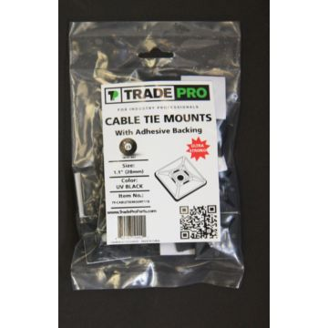 """TradePro TP-CABLETIEMOUNT11B - 1.1"""" Mount Black"""