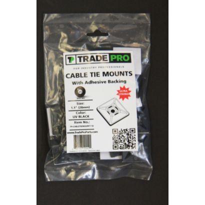 """TRADEPRO® TP-CABLETIEMOUNT11B - 1.1"""" Mount Black"""