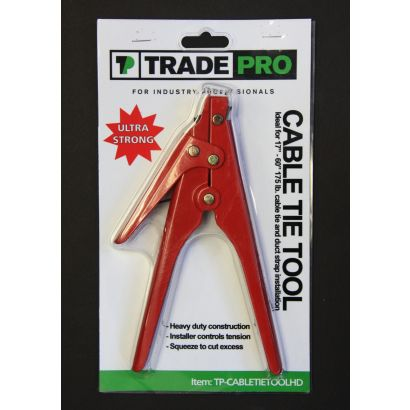 TRADEPRO® TP-CABLETIETOOLHD - Cable Tie Tool for 175 lbs. duct straps/blister pack