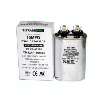 TRADEPRO® HCKS100V440217Z -  10 MFD 440V Oval Run Capacitor