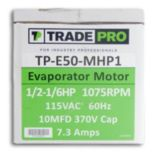 TRADEPRO® TP-E50-MHP1 -  1/2 HP Multi-Speed 1075 RPM 115V Evaporator Motor