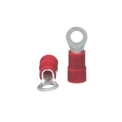 "TRADEPRO® TP-TERM-8R0250 - Red Ring Terminal 1/4"" - 20 per pack"