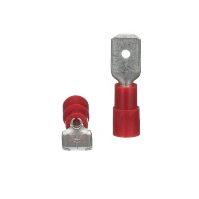 TRADEPRO® TP-TERM-RQDM250 - Insulated Quick Disconnect Male red - 100 per pack