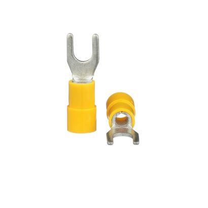TRADEPRO® TP-TERM-YS10 - Yellow Spade Terminal - 75 per pack