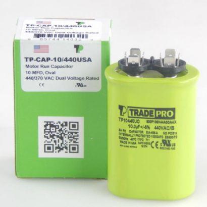 TRADEPRO® TP10440UO - 10 MFD 440V Oval Capacitor