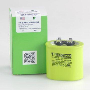 TradePro TP15440UO - 15 MFD 440V Oval Capacitor