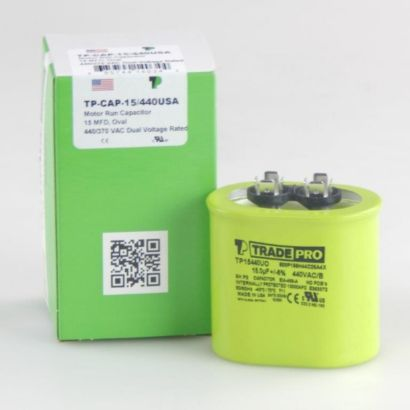 TRADEPRO® TP15440UO - 15 MFD 440V Oval Capacitor
