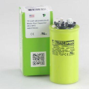 TradePro TP253440U - 25/3 MFD 440V Round Capacitor