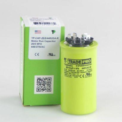 TRADEPRO® TP255440U - 25/5 MFD X 440V Round Capacitor