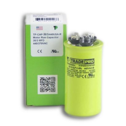 TRADEPRO® TP303440U - 30/3 MFD 440V Round Capacitor