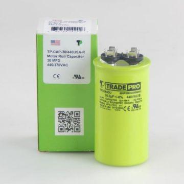 TradePro TP30440U - 30 MFD 440V Round Capacitor