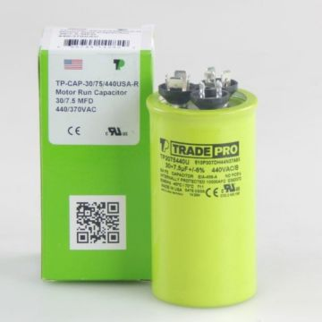 TradePro TP3075440U - 30/7.5 MFD 440V Round Capacitor