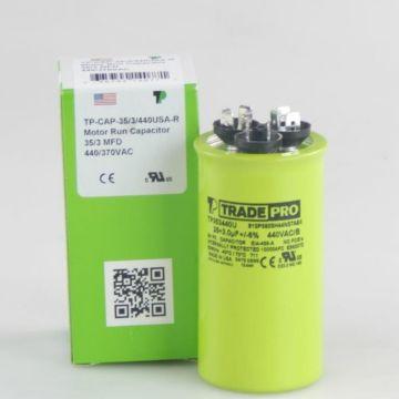 TradePro TP353440U - 35/3 MFD x 440 Round Capacitor