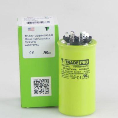 TRADEPRO® TP353440U - 35/3 MFD x 440 Round Capacitor
