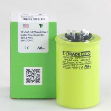 TRADEPRO® TP3575440U - 35/5 MFD x 440V Round Capacitor