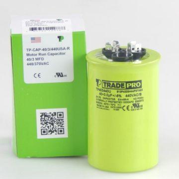 TradePro TP403440U - 40/3 MFD 440V Round Capacitor