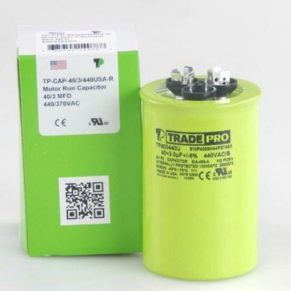 TRADEPRO® TP403440U - 40/3 MFD 440V Round Capacitor