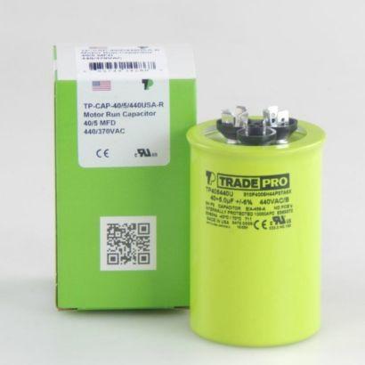 TRADEPRO® TP405440U - 40/5 MFD 440V Round Capacitor