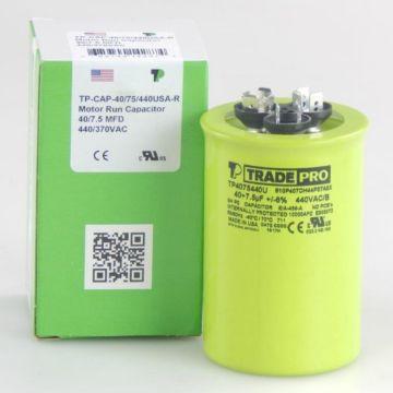 TradePro TP4075440U - 40/7.5 MFD 440V Round Capacitor