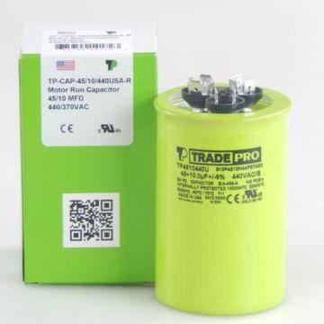 TRADEPRO® TP4510440U - 45/10 MFD 440V Round Capacitor