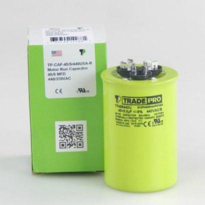 TRADEPRO® TP455440U - 45/5MFD X 440V Round Capacitor