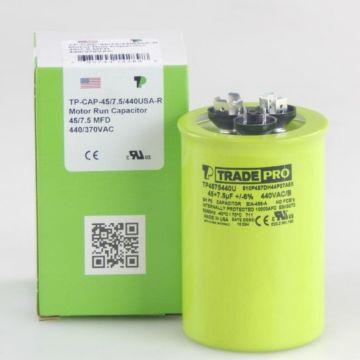 TRADEPRO® TP4575440U - 45/7.5MFD X 440V Round Capacitor
