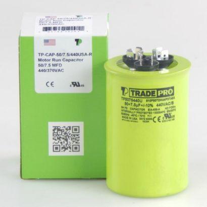 TRADEPRO® TP5075440U - 50/7.5MFD X 440 V Round Capacitor