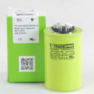 TRADEPRO® TP5510440U - 55/10 MFD 440V Round Capacitor