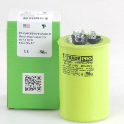 TRADEPRO® TP5575440U - 55/7.5 MFD 440V Round Capacitor