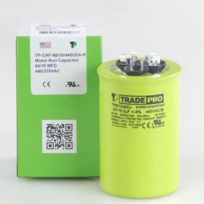 TRADEPRO® TP6010440U - 60/10 MFD 440V Round Capacitor