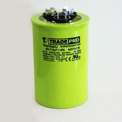 TRADEPRO® TP6075440U - 60/7.5 MFD 440V Round Capacitor