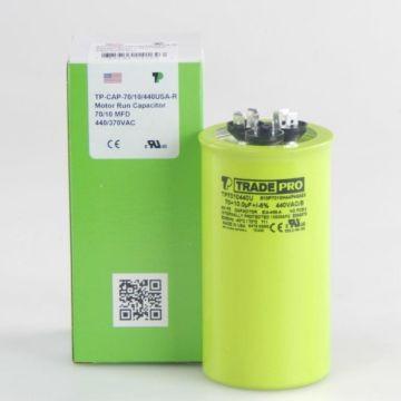 TradePro TP7010440U - 70/10 MFD 440V Round Capacitor