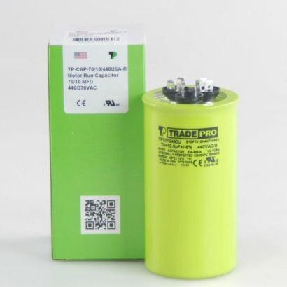 TRADEPRO® TP7010440U - 70/10 MFD 440V Round Capacitor