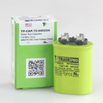 TRADEPRO® TP75440UO - 7.5 MFD 440V Oval Capacitor