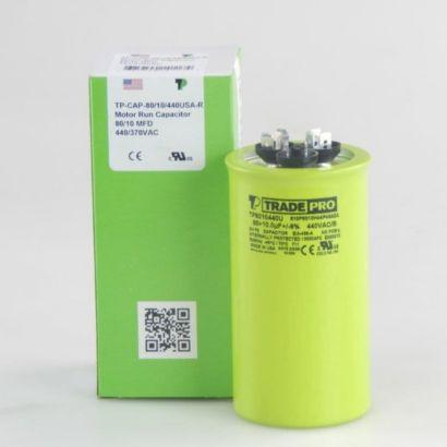 TRADEPRO® TP8010440U - 80/10 MFD X 440V Round Capacitor
