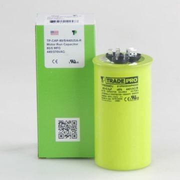 TradePro TP805440U - 80/5 MFD 440V Round Capacitor