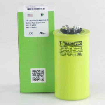 TradePro TP8075440U - 80/7.5 MFD 440V Round Capacitor