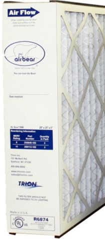 "Trion 259112-102 - Replacement Media 20"" x 25"" x 5"" MERV 11 Filter Cartridge"