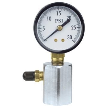 "Uniweld TGB30 - Test Gauge, 2"" Diameter 30 PSI, 3/4"" NPT, Steel Hex"