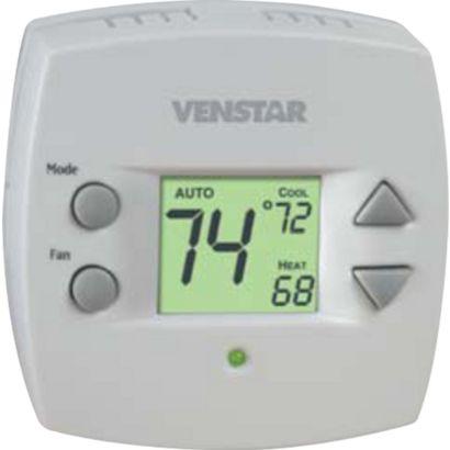 Venstar T1010 - Small Footprint 2 Heat/2 Cold 1-day Programmable