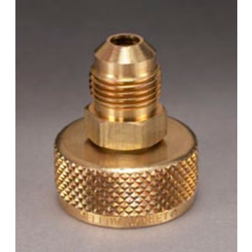 "Yellow Jacket 19106 - 3/4"" NPS cylinder Adapter with 3/8"" Male Flare"
